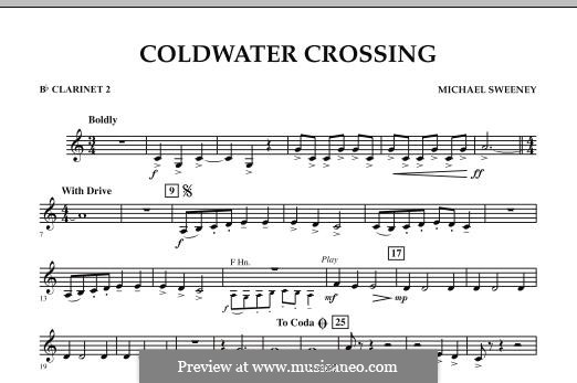 Coldwater Crossing: Bb Clarinet 2 part by Michael Sweeney