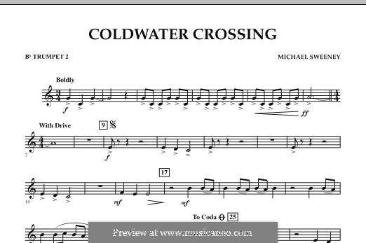 Coldwater Crossing: Bb Trumpet 2 part by Michael Sweeney