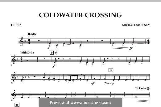 Coldwater Crossing: F Horn part by Michael Sweeney