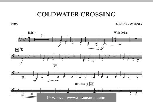 Coldwater Crossing: Tuba, partes by Michael Sweeney