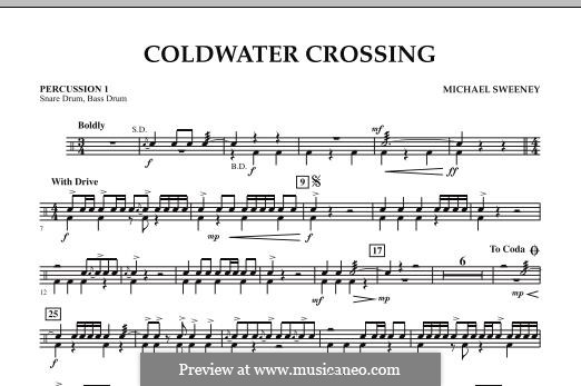 Coldwater Crossing: Percussion 1 part by Michael Sweeney