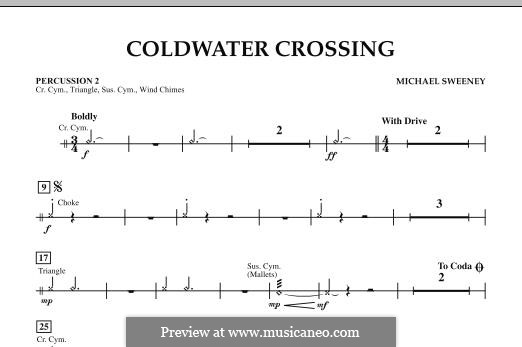 Coldwater Crossing: Percussion 2 part by Michael Sweeney