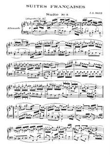 Suite No.5 in G Major, BWV 816: Para Piano by Johann Sebastian Bach