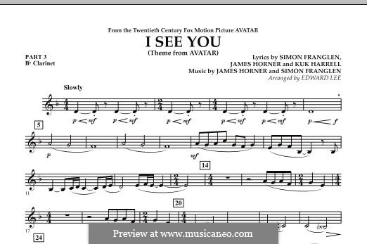 I See You (Theme from Avatar): Pt.3 - Bb Clarinet part by James Horner, Simon Franglen