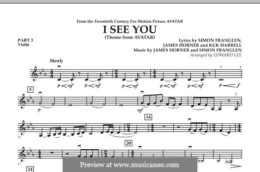 I See You (Theme from Avatar): Pt.3 - Violin part by James Horner, Simon Franglen