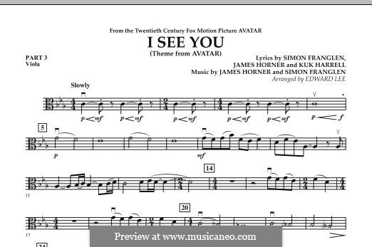 I See You (Theme from Avatar): Pt.3 - Viola part by James Horner, Simon Franglen