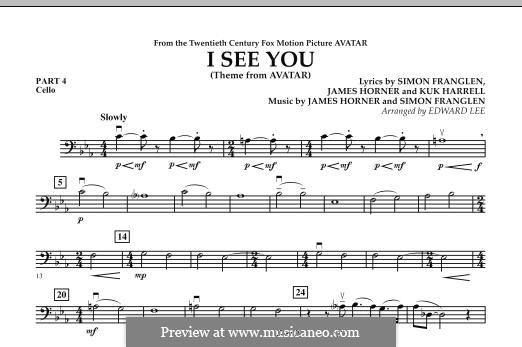 I See You (Theme from Avatar): Pt.4 - Cello part by James Horner, Simon Franglen