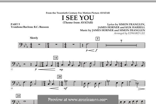 I See You (Theme from Avatar): Pt.5 - Trombone / Bar. B.C. / Bsn. part by James Horner, Simon Franglen