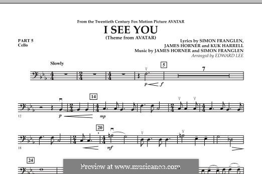 I See You (Theme from Avatar): Pt.5 - Cello part by James Horner, Simon Franglen