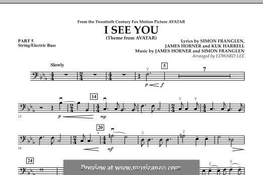 I See You (Theme from Avatar): Pt.5 - String / Electric Bass part by James Horner, Simon Franglen