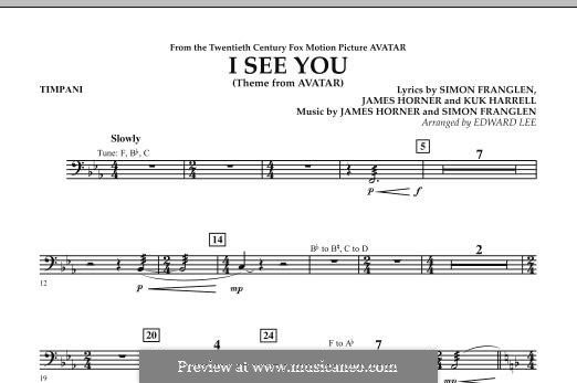 I See You (Theme from Avatar): Peça para Timpano by James Horner, Simon Franglen