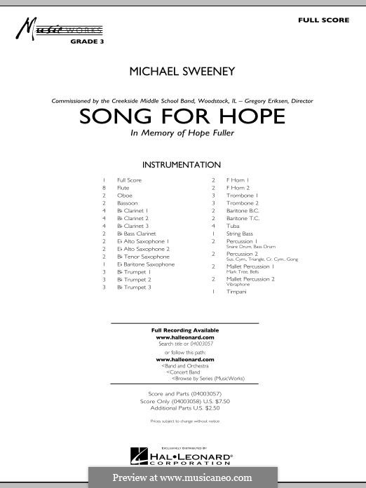 Song for Hope: partitura completa by Michael Sweeney