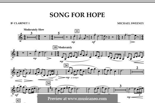 Song for Hope: Bb Clarinet 1 part by Michael Sweeney