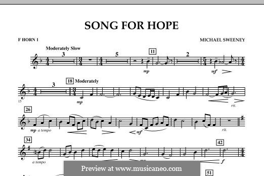 Song for Hope: F Horn 1 part by Michael Sweeney