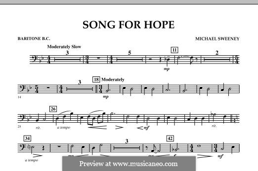 Song for Hope: Baritone B.C. part by Michael Sweeney