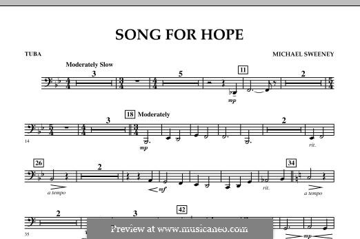 Song for Hope: Tuba, partes by Michael Sweeney