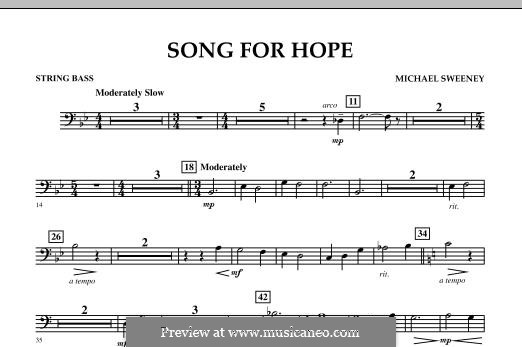 Song for Hope: String Bass part by Michael Sweeney