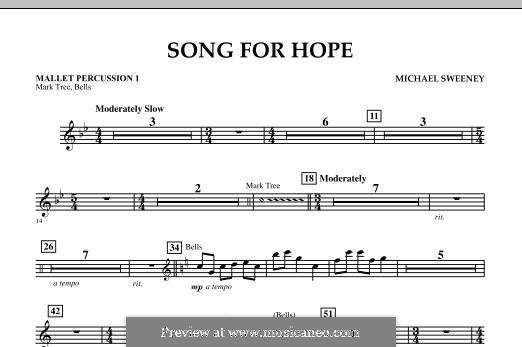 Song for Hope: Mallet Percussion 1 part by Michael Sweeney