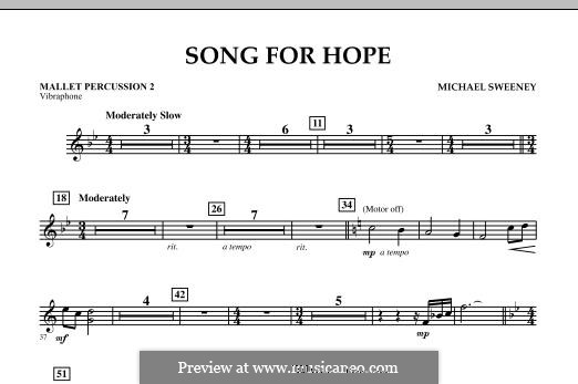 Song for Hope: Mallet Percussion 2 part by Michael Sweeney