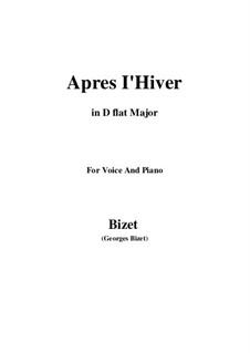 Apres l'Hiver: D flat Major by Georges Bizet