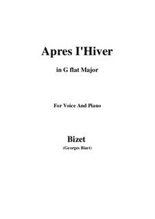 Apres l'Hiver: G flat Major by Georges Bizet