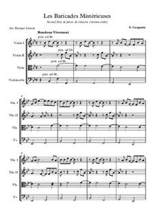 Les baricades misterieuses: para quartetos de cordas by François Couperin
