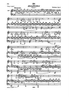 Abendbilder, D.650: para voz baixa e piano by Franz Schubert