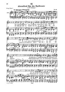 Abendlied für die Entfernte (Evening Song for the Distant Beloved), D.856 Op.88 No.1: para voz baixa e piano by Franz Schubert