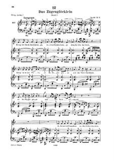 Das Zügenglöcklein (The Passing Bell), D.871 Op.80 No.2: para voz baixa e piano by Franz Schubert