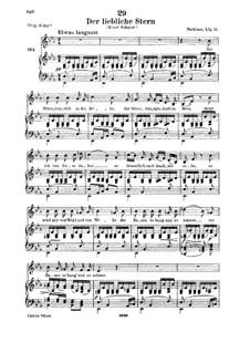 Der liebliche Stern (The Lovely Star), D.861: para voz baixa e piano by Franz Schubert