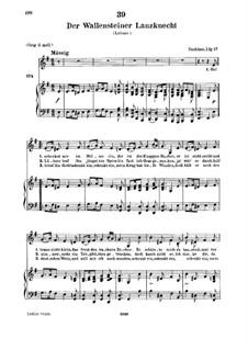 Der Wallensteiner Lanzknecht beim Trunk (Wallenstein's Infantryman Drinking), D.931: para voz baixa e piano by Franz Schubert