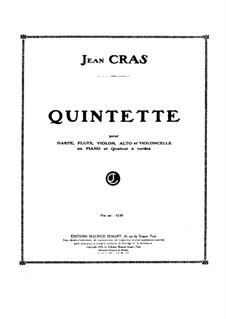 Quintet for Flute, Strings and Harp (or Piano): partitura completa by Jean Cras