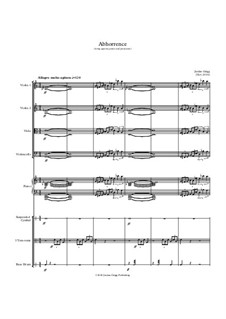 Abhorrence (string quartet, piano and percussion): Abhorrence (string quartet, piano and percussion) by Jordan Grigg