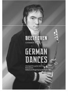 Twelve German Dances, WoO 8: para duas guitarras by Ludwig van Beethoven
