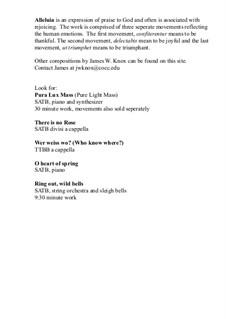 Alleluia I, II, III: Alleluia I, II, III by James Knox