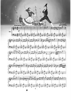 No.12 Divertissement: Divertissement. Spanish Dance (Chocolate), for piano by Pyotr Tchaikovsky