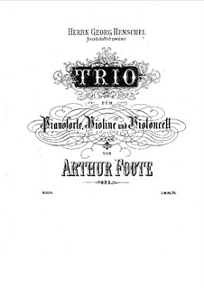 Piano Trio No.1 in C Minor, Op.5: Partitura completa by Arthur Foote