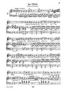 An Chloe, K.524: para voz alta e piano by Wolfgang Amadeus Mozart