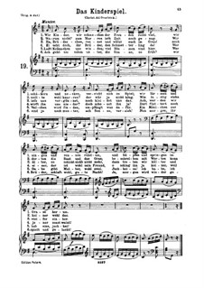 Das Kinderspiel, K.598: para voz baixa e piano by Wolfgang Amadeus Mozart