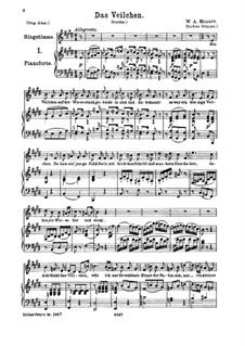 The Violet, K.476: para voz media e piano by Wolfgang Amadeus Mozart
