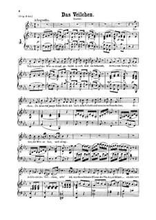 The Violet, K.476: para voz baixa e piano by Wolfgang Amadeus Mozart