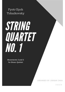 String Quartet No.1 in D Major, TH 111 Op.11: Movements II and III. Version for wind quintet by Pyotr Tchaikovsky