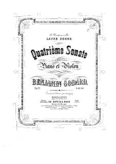 Sonata for Violin and Piano No.4, Op.12: partitura by Benjamin Godard