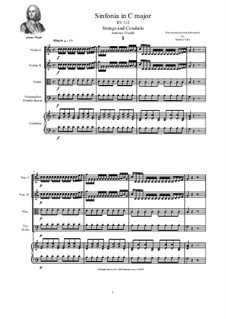Sinfonia in C Major for Strings and Cembalo, RV 112: Score and parts by Antonio Vivaldi