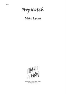 New series of beginner piano pieces: 5. Hopscotch - Intermediate Piano by Mike Lyons