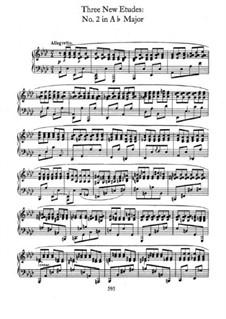 Trois nouvelles études, B.130 KK IIb/3: No.2 em A flat maior by Frédéric Chopin