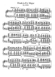 No.11 in E Flat Major: Para Piano by Frédéric Chopin