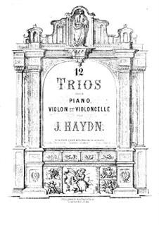 Piano Trios (Collection), Hob.XV: No.1-12 – violin part by Joseph Haydn