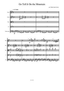 Go, Tell it on the Mountain: para quartetos de cordas by folklore