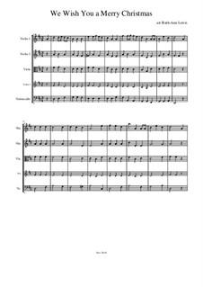 We Wish You a Merry Christmas: para quartetos de cordas by folklore